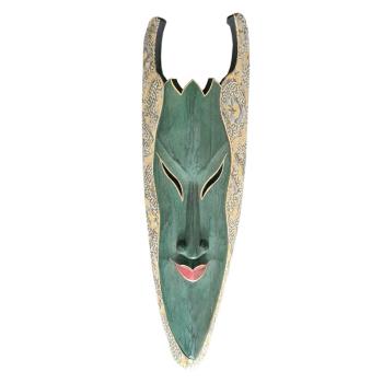 Davartis - Wandobjekt Afrikanische Maske - Grün mit...