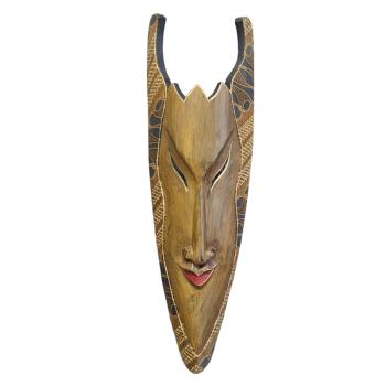 Davartis - Wandobjekt Afrikanische Maske - Braun mit...