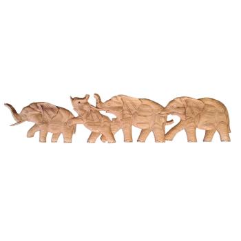 Davartis - Wandobjekt Elefanten - Holz