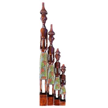 Davartis - Afrikanische Figuren - Rot/Grün - 4er Set...