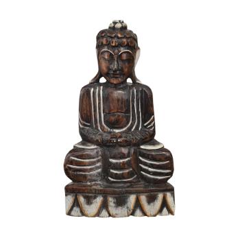 Davartis - Zierlicher Deko Buddha aus Holz - sitzend #1