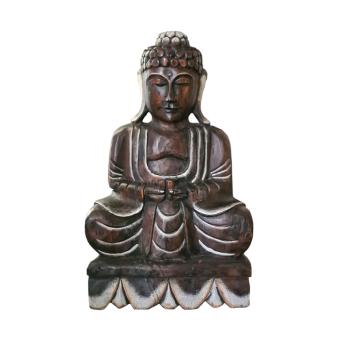 Davartis - Voluminöser Deko Buddha aus Holz -...
