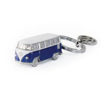 VW T1 Bus 3D Schlüsselanhänger - Blau