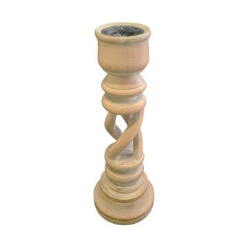 Davartis - Vintage Kerzenständer aus Holz - ca. 30cm