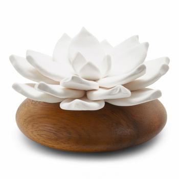 ANOQ - Duftstein Star de Java - Weiße Keramikblume,...