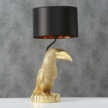 Boltze - Tischleuchte Tucan goldfarben 70cm