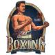 DekoDepot - Geprägtes Blechschild - Boxing