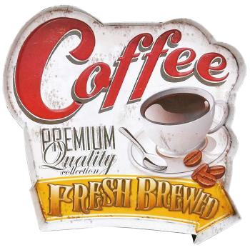 DekoDepot - Geprägtes Blechschild - Coffee
