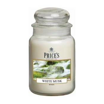 Prices Candles - Duftkerze White Musk - Mandeln, weißer Moschus