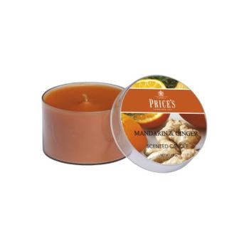 Prices Candles - Duftkerze Mandarin & Ginger - 100g Dose