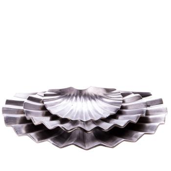 Davartis Aluminium Schalen in Muschelform 3er Set