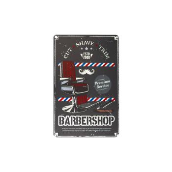 Davartis - Blechschild - Barber Shop Cut Shave Trim