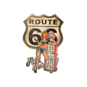 Davartis - Blechschild - Route 66 Fill Her Up