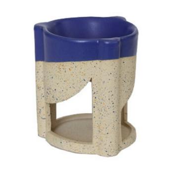 Davartis - Duftlampe Rondolino - Keramik, sandfarbend- blau