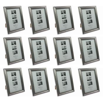 Davartis - 12x Fotorahmen Antik Silber - Bildformat 13x18cm