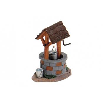 Davartis - Miniaturfigur Modellbau Brunnen 6cm - mit zwei Eimern