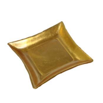 Davartis - Dekoteller Ton Gold-Glasiert - Tischdeko,...