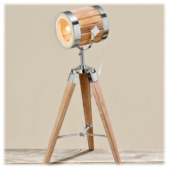Boltze - Studiolampe Lauris Kiefer natur - Bamboo Sperrholz